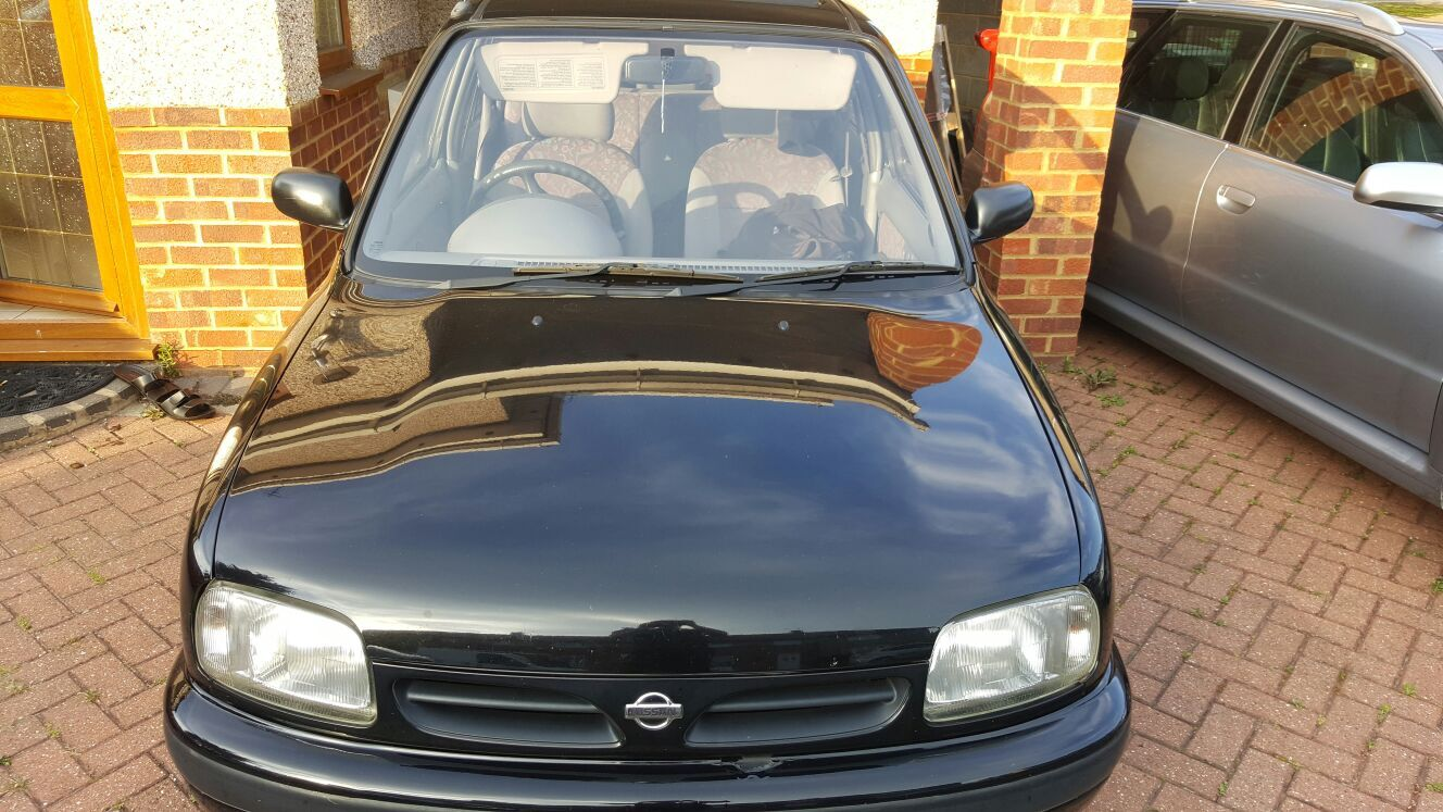 1998 r reg nissan micra black 90k 250 slough retro rides. Black Bedroom Furniture Sets. Home Design Ideas
